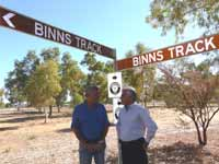 The naming of Binns Track with Mr. Binns the man it's named after.