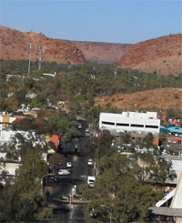 Heavitree Gap - looking over the MacDonnell Ranges