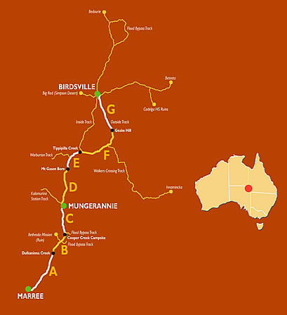Get you Birdsville Out Map  book here at Outback Travellers