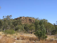 Ellery Creek  hilly outcrop
