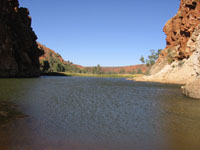 Glen Helen  - Courtesy of the PJB collection to the West MacDonnell ranges from Alice Springs in  Central Australia visit.