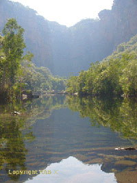 Jim Jim Falls and Jim Jim Gorge in Kakadu National Park in Northern Territory Australia