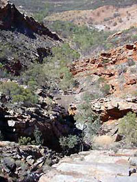 Serpentine Chalet - looking down at the dam [©Parks and Wildlife Service NT