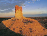Chambers Pillar courtesy of Tourism NT for the promotion of travel to Northern Territory