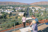 Anzac Hill lookout over MacDonnell Ranges