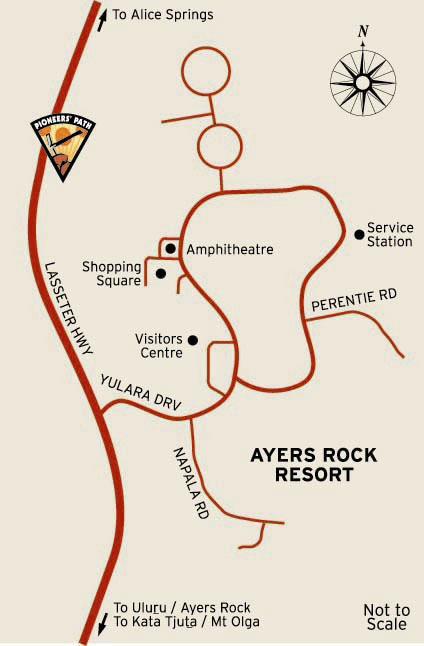 Ayres Rock Resort Map