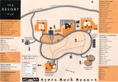 Click onto this Ayers Rock Resort loop map for a enlarged Ayers Rock accommodation and facilities Resort map