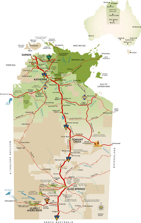 Ghan railway near alice springs australia a tourist information selfdrive visitors guide - Alice springs tourist office ...