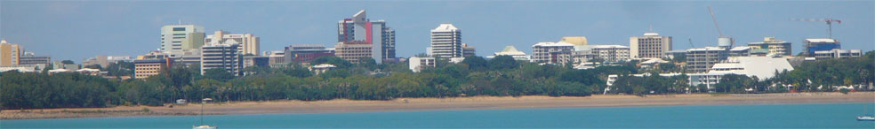 Darwin looking back to Skycity Resort and Skycity Casino- Tropical Darwin a tourist information  about Darwin